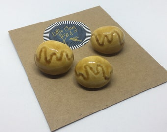 Set of 3 Ceramic wave buttons