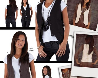 Jalie 3129 Women's Vests Sewing Pattern in 3 Classic Styles sizes 0-22
