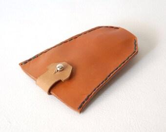 Keychain. Orange keychain. Baggy. Personalized keychain. Leather keyring. Woman's & Man's keychain. Custom leather keychain.