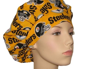 Scrub Hats - Pittsburgh Steelers Fabric
