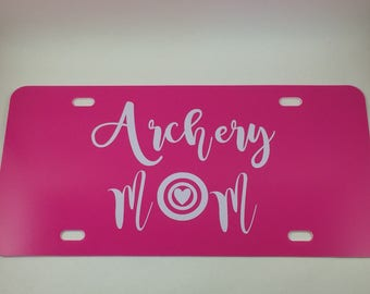 Archery Mom license plate - archery mom - archery license plate - archery decal - license plate - NASP