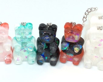 Resin Oversized  Gummy Bears on a Clasp