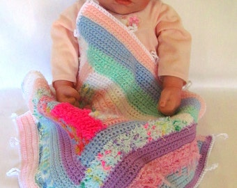 Baby Travel Blanket, Colorful Baby Travel Blanket, Little Travel Blankets, Mini Blanket, Small Pet Blanket, Mini Car Blanket, Doll Blanket