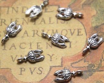 80pcs Tiny Knight Helmet Charms  silver tone Unicorn Charms pendants 14x6mm ASD1664