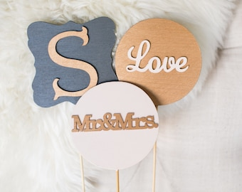 Wooden Wedding Photo Booth Props - Custom/Yay/Cheers/Mr&Mrs/Just Married/Love/Signs/Rustic/Chic/Props/Monogram/Initial/New Last Name/I Do