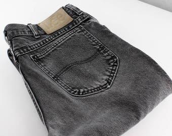 Vintage Lee Jeans   Faded Black - Charcoal Grey