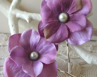 Simplicity Blossoms - Set of 2 Hairpins