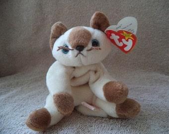 Beanie babies  ,Ty beanie babie Snip the siamese cat , 1996 beanie babie , Stuffed cat, p v c pellets, Stuffed animal , Stuffed cat