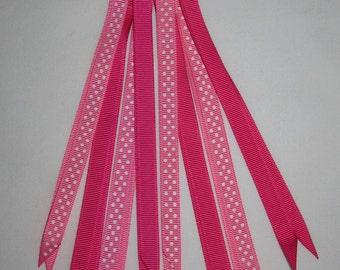 Pink Polka Dot Pony tail.