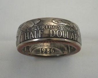 Coin Ring, A Nation Of Immigrants, Place Your Custom Order Here, sizes 8 to 14