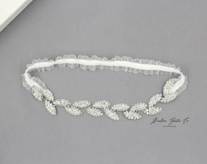 Dainty Wedding Garter, Elegant Wedding Garter, bridal garter FB11