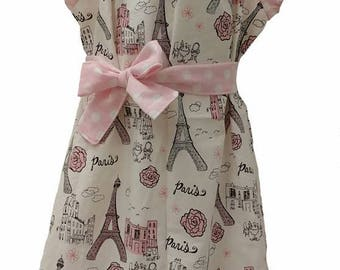 Pink Paris Ruffle Dress