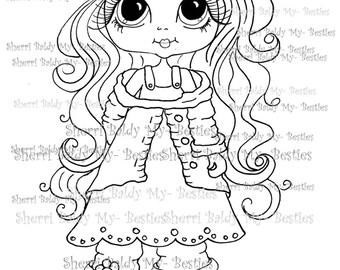 INSTANT DOWNLOAD Digital Digi Stamps Big Eye Big Head Dolls Digi My Besties Rose Bud By Sherri Baldy