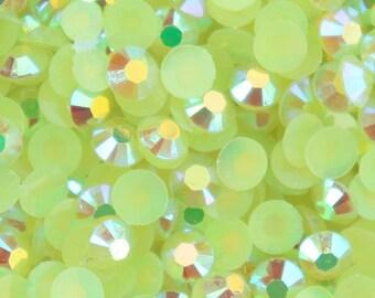Light Green AB Resin Jelly Flatback Rhinestones 5mm Nail Art (Craft Supplies & Tools)