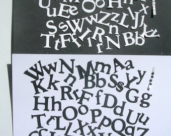 Alphabet Diecut  Letters;  Two Each of Upper and Lower Case per pack