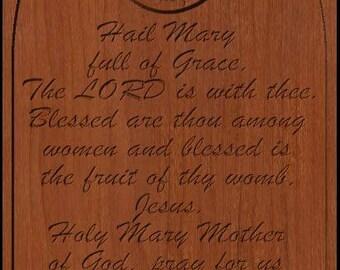 Hail Mary Prayer Carving