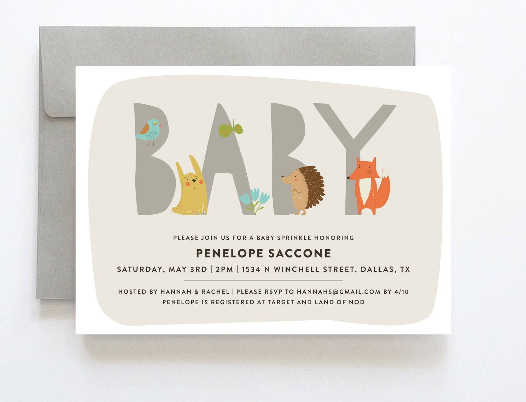 Baby Sprinkle Invitation Boy Baby Sprinkle Invitation