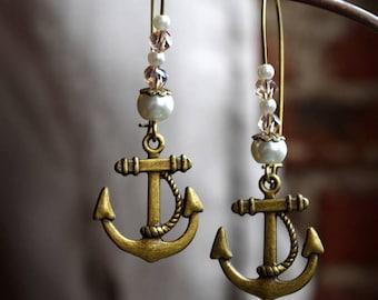 Nice pair of earrings anchor ~ Bohemian inspired ~
