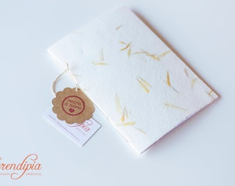 A5 Pocket Notebooks for notes, weekly schedules, or drawings, with handmade paper-sewn by hand with chain