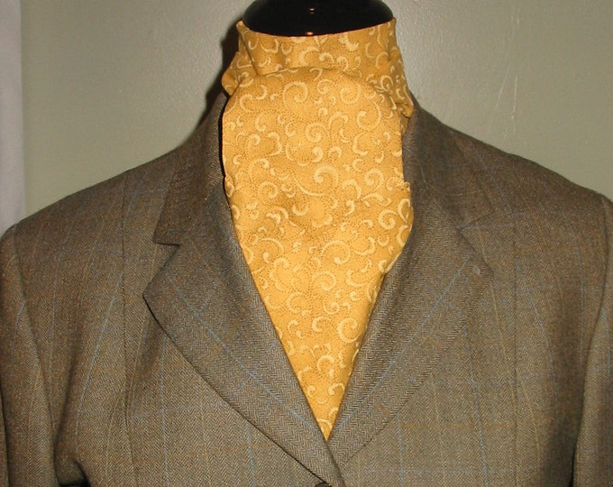 Gold on Gold Paisley Stock Tie
