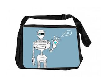 Robot Black School Shoulder Messenger Bag