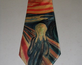 Norwegian Edvard Munch Neck Tie with The Scream #NT1987