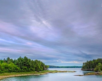 A Quiet Evening on Cobscook Bay - Fine art landscape photograph of early evening in Downeast Maine - June 11, 2016