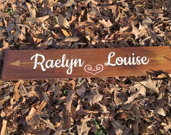 Custom Baby Name Wood Sign~ Baby Name Sign~ Nursery Wall Art~ Nursery Decor~ Personalized Wood Sign~ Gallery Wall Art~ Gallery Wall Decor