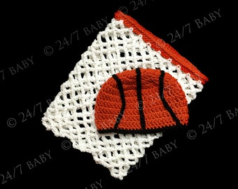 Crochet Basketball Hat Beanie and Crochet Basketball Hoop Net Newborn Size