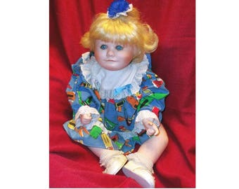"22"" Holly Hunt Porcelain Doll - 1989 - ON SALE - was 75.00 ... Now only 45.00"