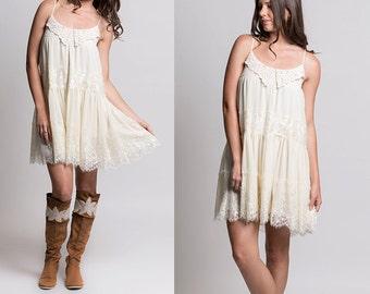 Boho lace dress, evening dress, prom dress, cream lace dress, vintage lace dress, boho dress, bridesmaid dress, bridesmaids, lace dress