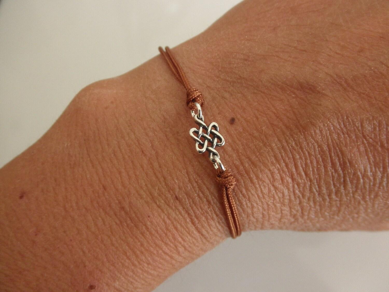 Celtic knot friendship bracelet sterling silver endless knot zoom biocorpaavc