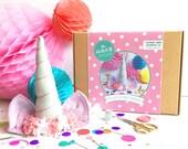 unicorn DIY kit, unicorn crafts, felt craft, craft kits, kids costume, unicorn costume, gifts for her, stocking filler, gifts for children