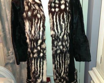 Vintage Fur Coat. Very Unusual. Ponyskin/Cowhide. Size S/M: 10/12
