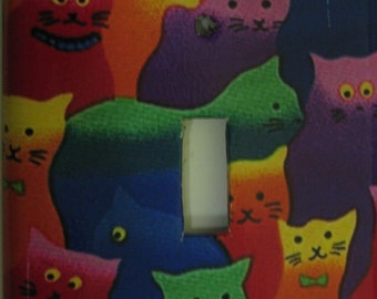 Colorful Kitties Light Switch Cover