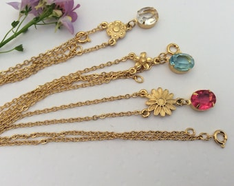 Necklace set of 3 mixed colour Rhinestone Vintage C1980's