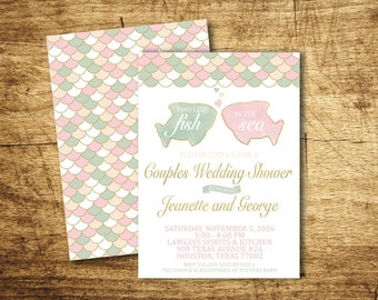 Two Less Fish in the Sea - wedding shower invitation