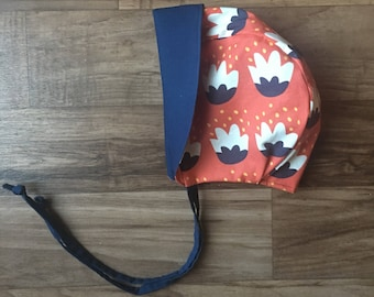 Baby bonnet || Toddler bonnet || Sun bonnet || Sun hat || Floral bonnet || Brimmed bonnet || Baby shower || Reversible bonnet