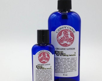 Candy Cane Organic Lotion, Holiday Scent, Natural Lotion, Jojoba Lotion, Shea Butter Lotion, Moisturizer, Organic Hand Lotion, Body Lotion,