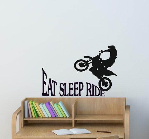 Dirtbike Sport Decal Boys Bedroom Sticker Girls Room Quote