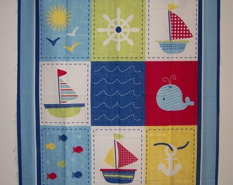 Ships Ahoy Panel With Coordinating Fabric