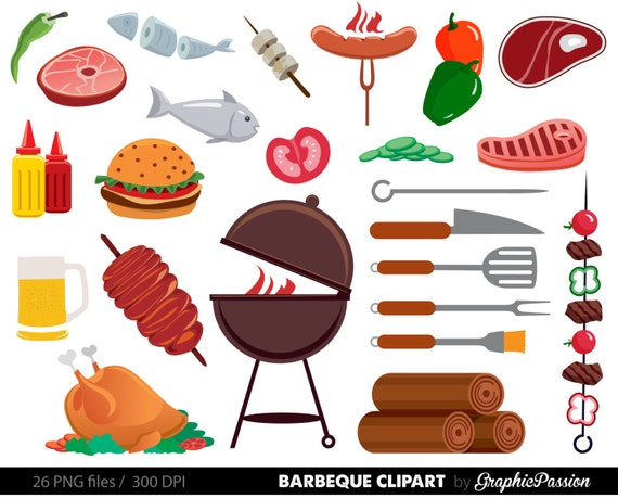 bbq clipart cookout clipart barbeque clipart party food clipart rh etsystudio com family cookout clipart family cookout clipart