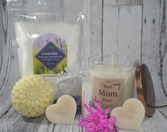 Mother's Day Spa Gift Basket  // Personalized Candle, Bath, and Body Gift // Choose a Scent // by ATHDecor for Mom Nana Grandma Aunt