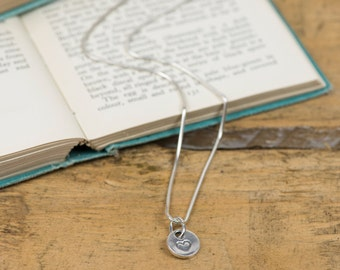 Fine Silver Vintage Heart Charm Necklace - Silver Vintage Heart Pendant - Heart Charm Necklace - Silver Heart Charm - Fine Silver Necklace