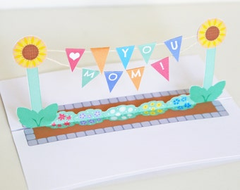 Mother's Day Banner Pop Up Card