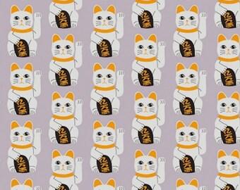 Fabric cat maneki neko, lucky cat, cat door happiness, 1/2 meter