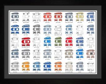 Hyundai Auto Collection Drawing Art Car Elantra Sonata Santa Fe Accent Gift AHYND1824