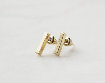 Thick Vertical Bar earrings