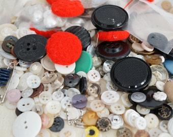 Over a Half Pound Lot of Buttons From Small To Large For All Sorts Of Craft Making - 10 Ounces Of Buttons