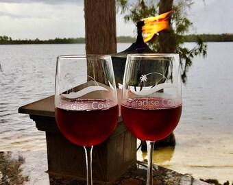 Paradise Cove - Pair of Wine Glasses (2)